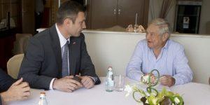 Soros con Klichkó, actual alcalde de Kiev