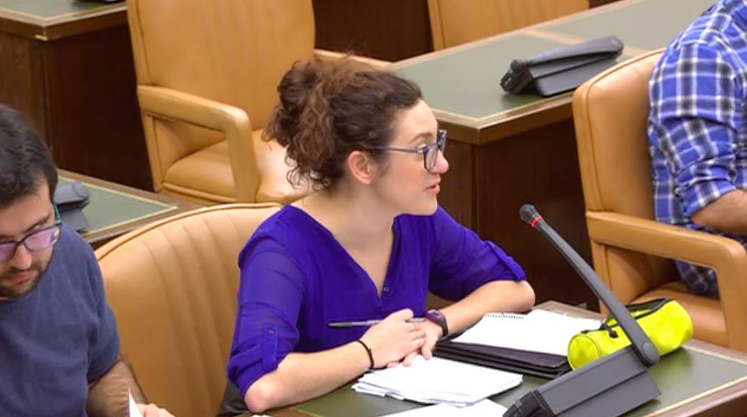 La diputada de En Comú Podem e ICV, Aina Vidal Sáez.