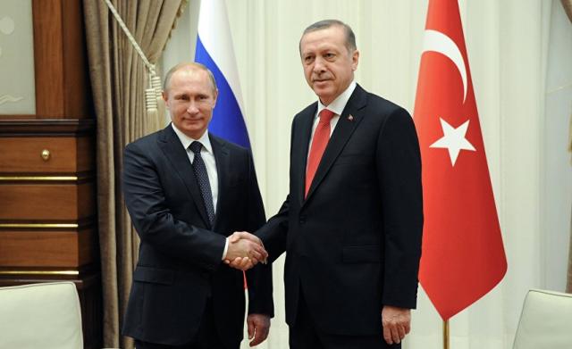Los presidentes de Rusia y Turquía en una reunión sobre Siria.