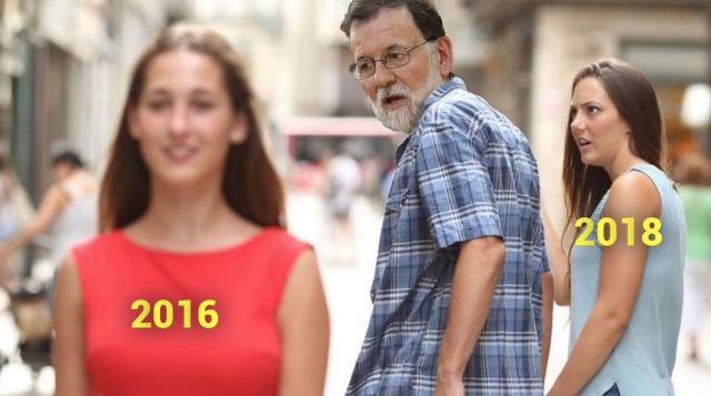Meme sobre el lapsus de Mariano Rajoy.