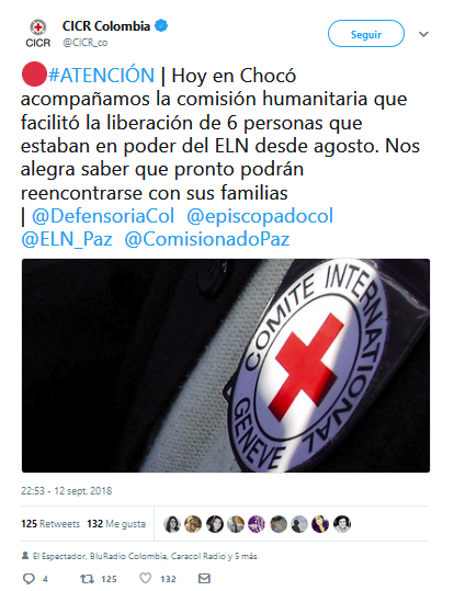 La guerrilla colombiana anuncia la decisión de liberar a rehenes