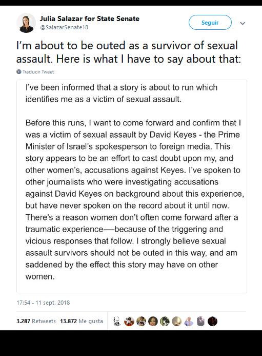 Portavoz del primer ministro israelí acusado por 12 mujeres de mala conducta sexual