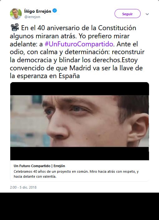 El giro centrista de Iñigo Errejón